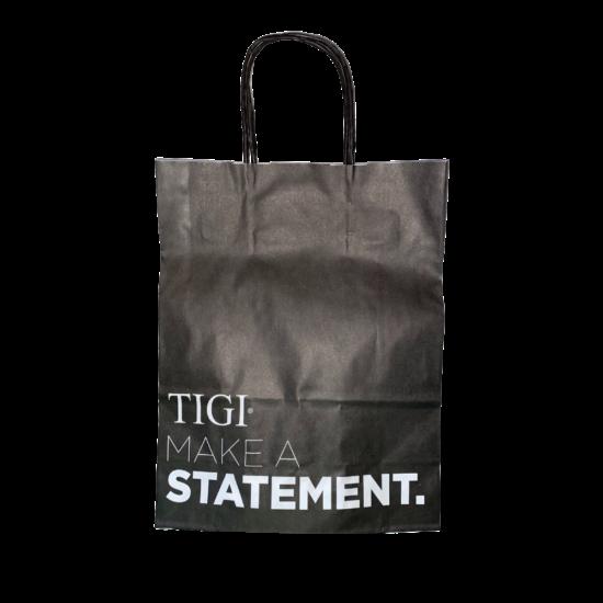 Tigi Reklám Papírtáska - Fekete